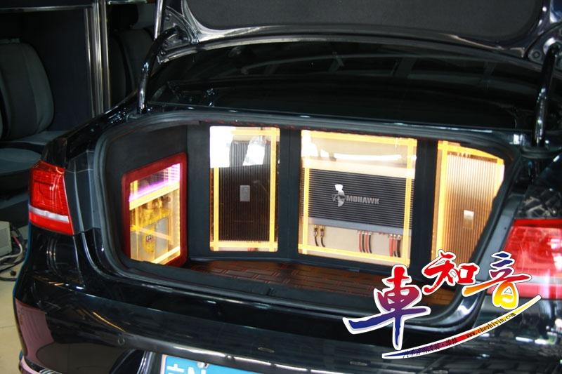 北京车知音--大众迈腾音响改装豪客三分频汽车音响音质动力十足